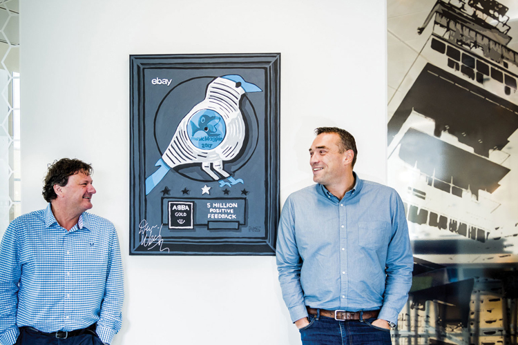 The entrepreneurial duo started their £100m musicMagpie empire in Steve's garage in Hazel Grove, Stockport -
