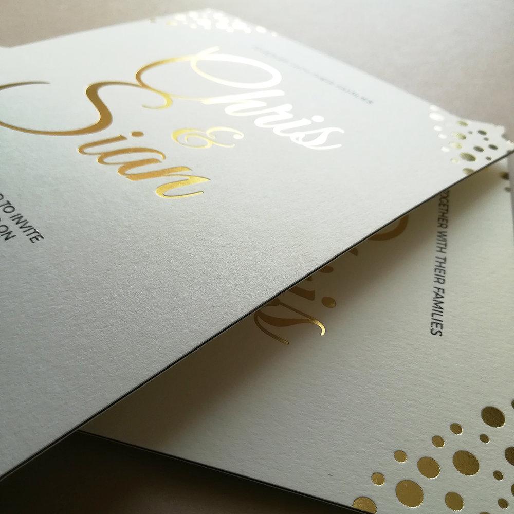 #Chris - Printed with Bespoke Blocking Gold Foil