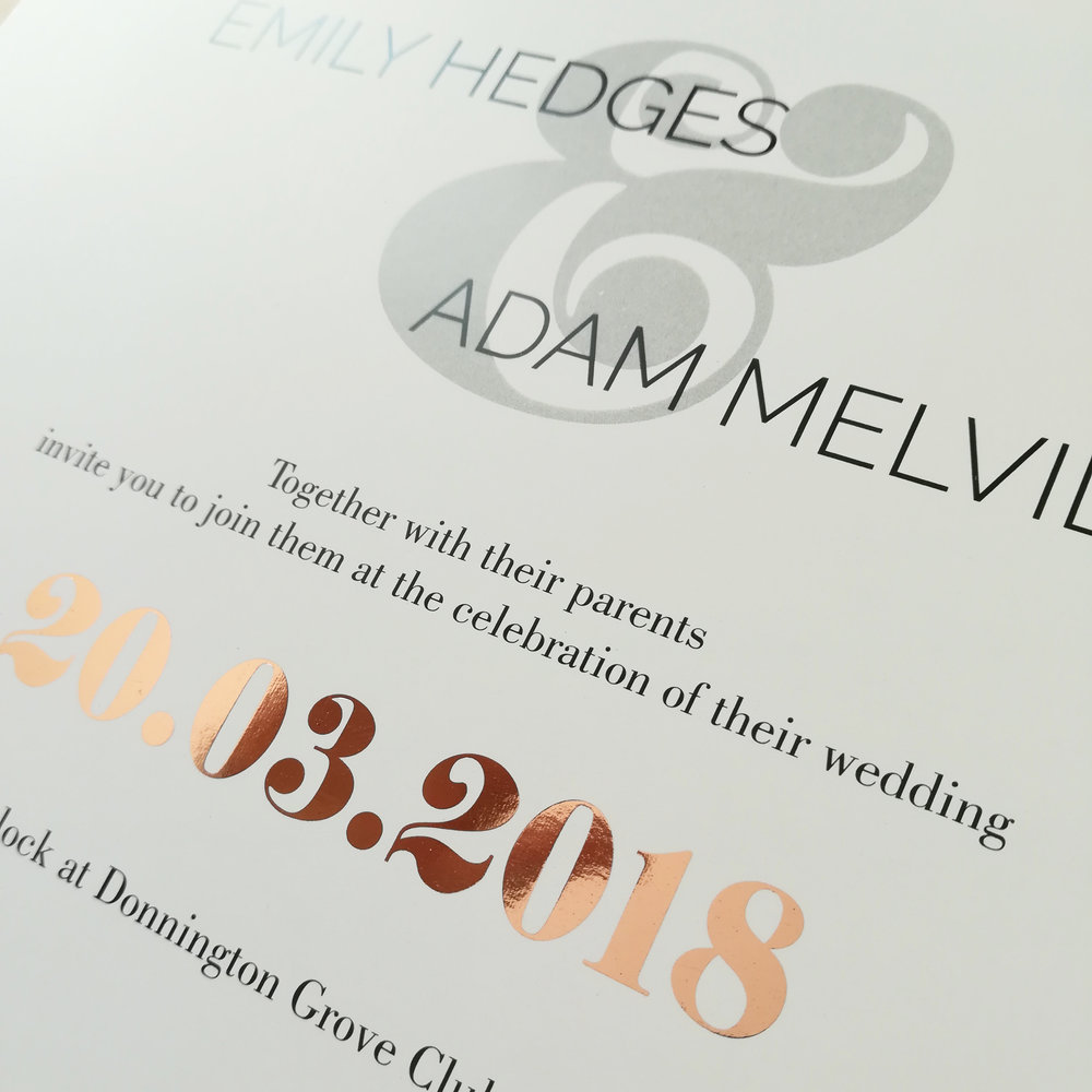 #Hedges - Rose Gold Foil on Coated Paper