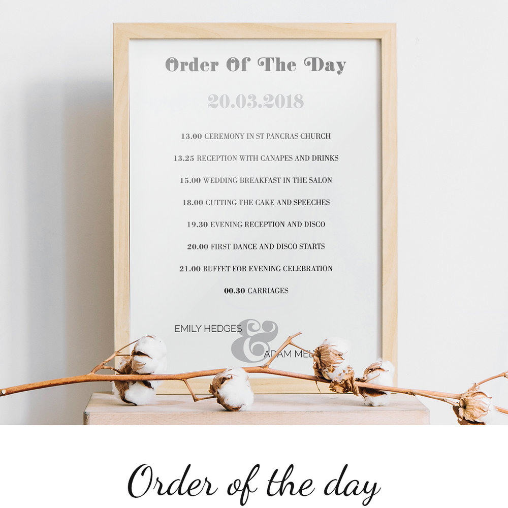 Let the all-important guide to your big day stand out >       See options