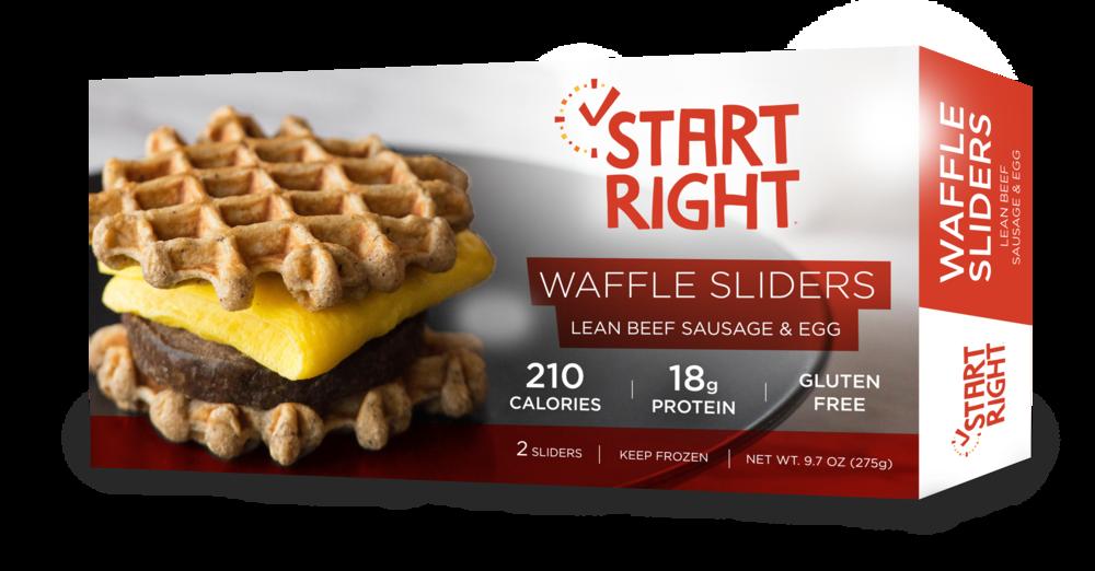 waffle slider, breakfast sandwich, sausage and egg sandwich, high protein breakfast sandwich, breakfast sammie,