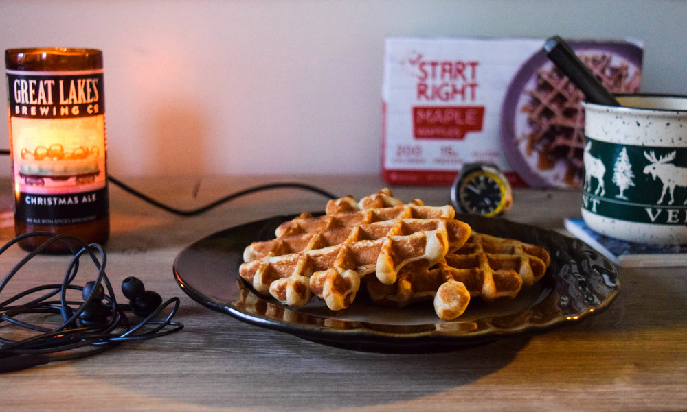 waffles, toaster waffles, frozen waffles, high protein, great lakes brewery, great lakes candle, tutima, protein breakfast, high protein waffles, store-bought waffles