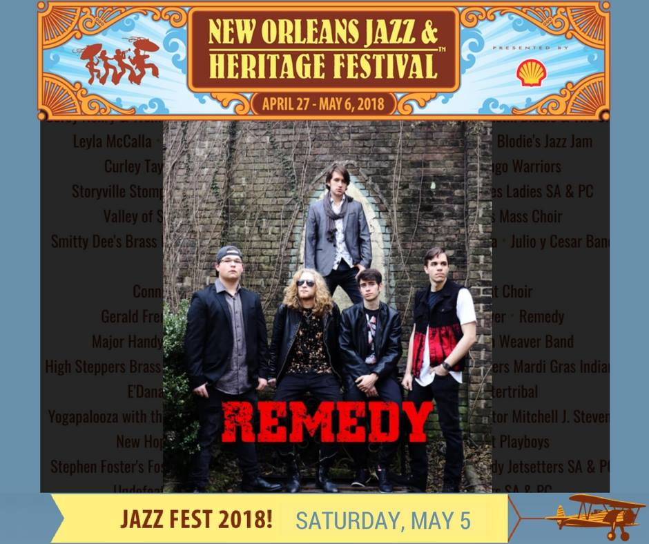 New Orleans Jazz Fest 2018 >> Remedy To Perform At Jazz Fest May 5 2018 On The Acura Stage Rmdy