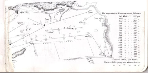 Part of the original course layout (unfortunately, the page containing the other half of the course has been lost).