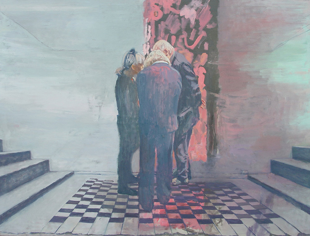 < Regard2 >, huile sur toile, 2017