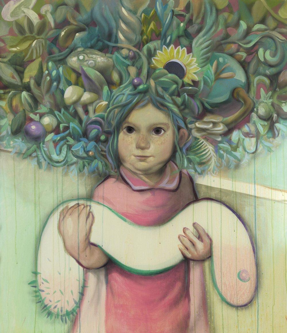 Girl, acrylique sur toile, 2017