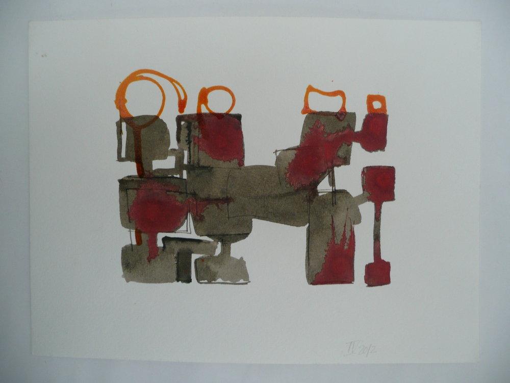 Farandole, encres, 18 x 24 cm