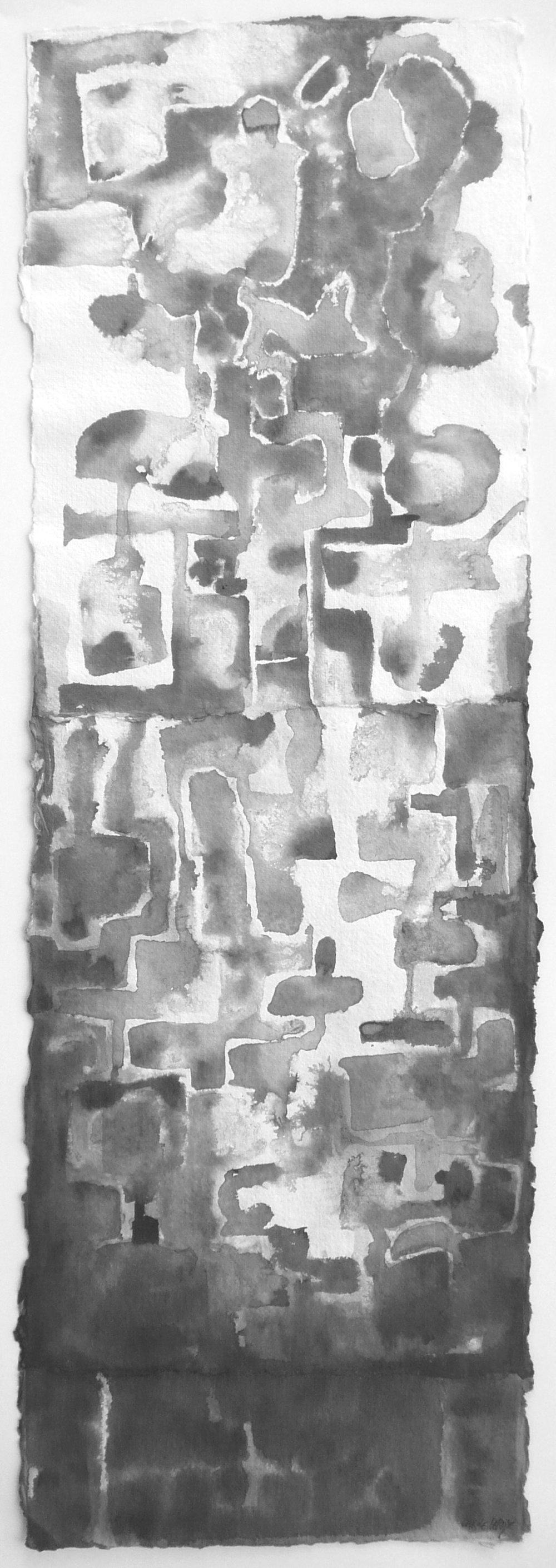 Diptyque, Encres, collage, 32 x 93 cm