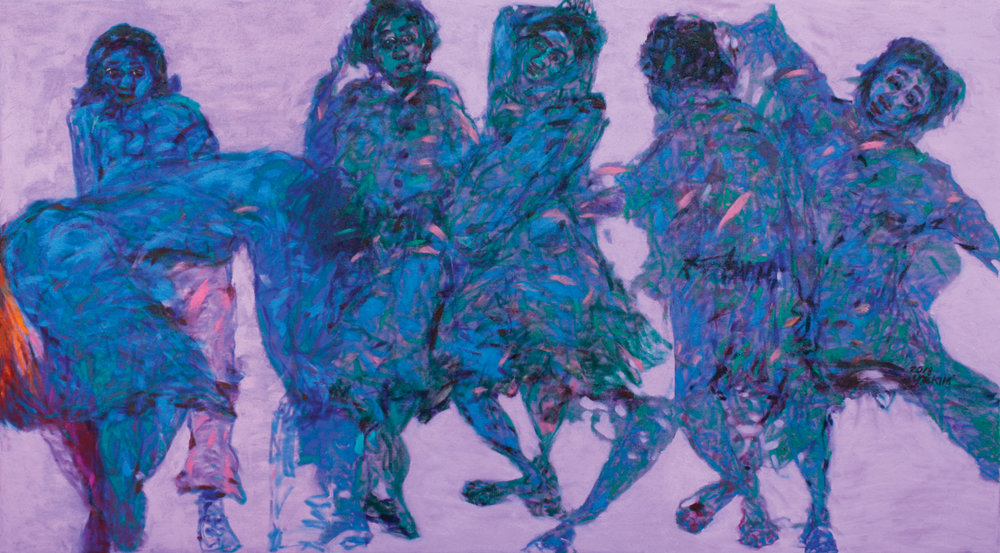 Rhapsody in Life,2018, Oil on Felt,180x100cm