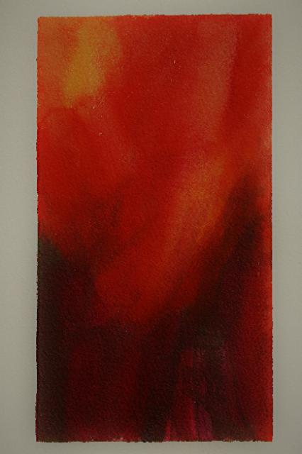 Nature,  série de Rouge 21x 30cm, technique mixte, 2017