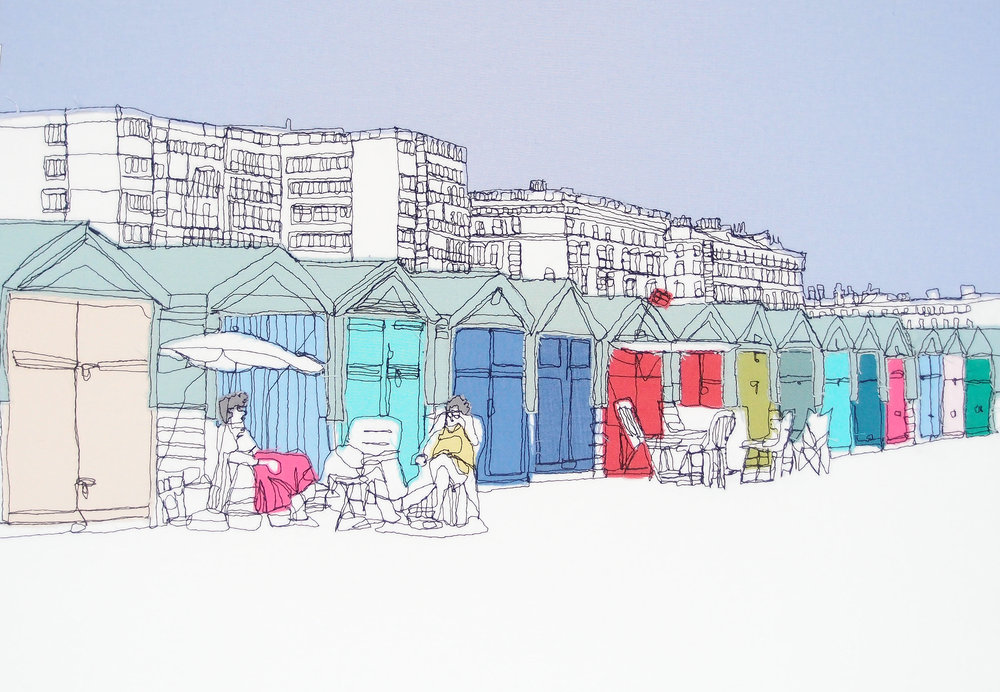 Beach Huts - Single A4 Print .jpg