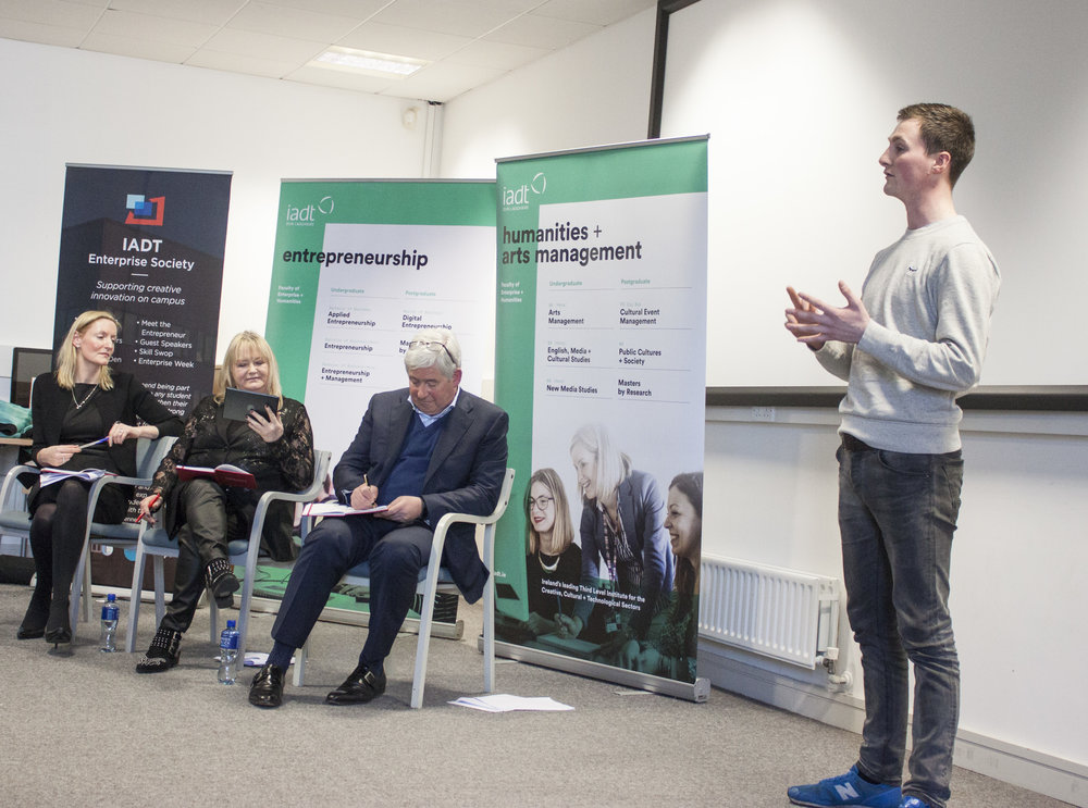 Our Founder Peter Pitching to the Dragon's Den Panel