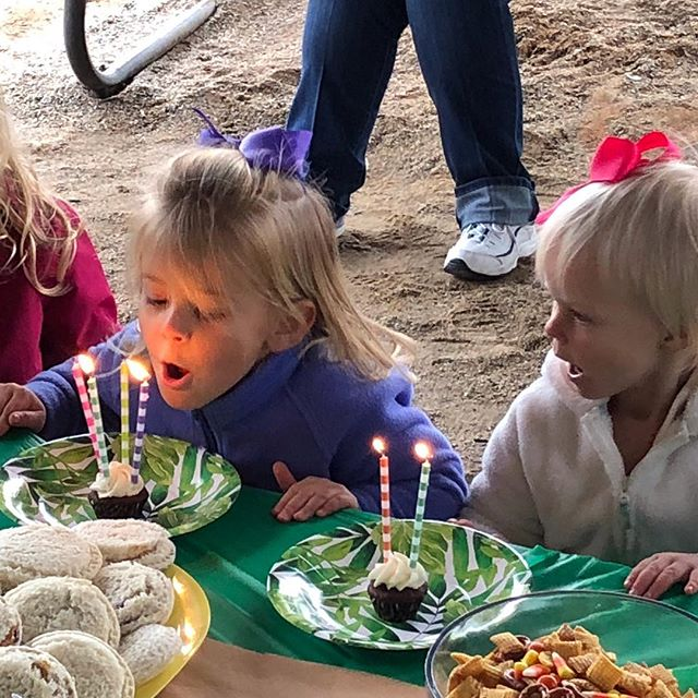 Celebrated the tiniest militia members this morning at  @lazy5ranch. Happy birthday to our wild animals, Layla (4) and Larkin (2)!