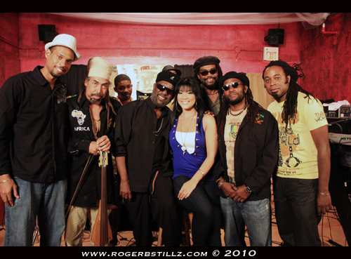 Director Adrian Allen with Third World Band and Tessanne Chin