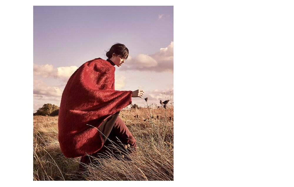Kingdom of rust   Mitch at Select wearing Roland Mouret Cape.