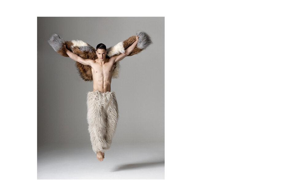 Thomas Ivasaki as the Chanel Yeti,   Wallpaper*