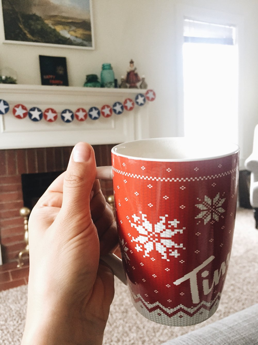 Christmas-in-July mug filled with fall, no contradictions there.