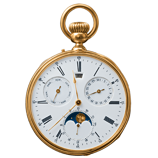 Breguet 1369 Gregorian Calendar Pocket Watch   Source:    Breguet
