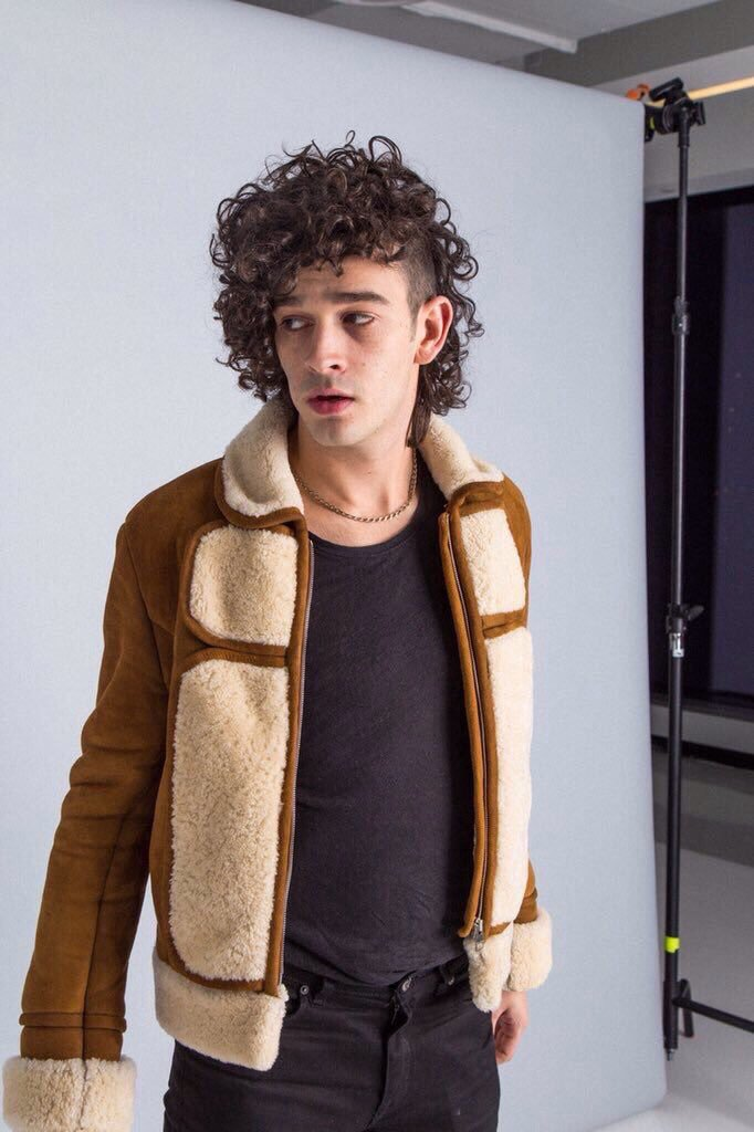 Healy in an old favorite - his J.W. Anderson Suede and Shearling Jacket  Source: GQ