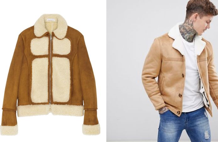[Left] Original Shearling Coat:  approx. $2400 USD   Source: Net-A-Porter  [Right] Alternative: River Island Faux Shearling Coat from ASOS:  retail - $135 USD   Source: ASOS
