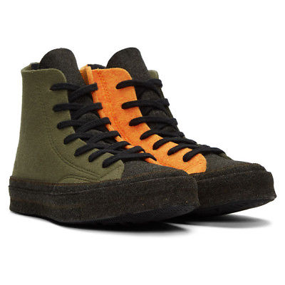 Men's Multi-Orange Felt Chuck Taylors by Converse x J.W. Anderson  Source: J.W. Anderson
