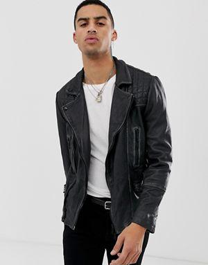 AllSaints Leather Biker Jacket  Source: ASOS