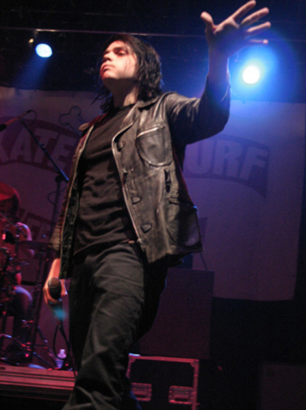 Gerard at Skate & Surf Festival (probably 2004)  Source: I wish I knew, but the Internet seems to have swallowed this one whole and spat it out all over Tumblr without so much as half a clue