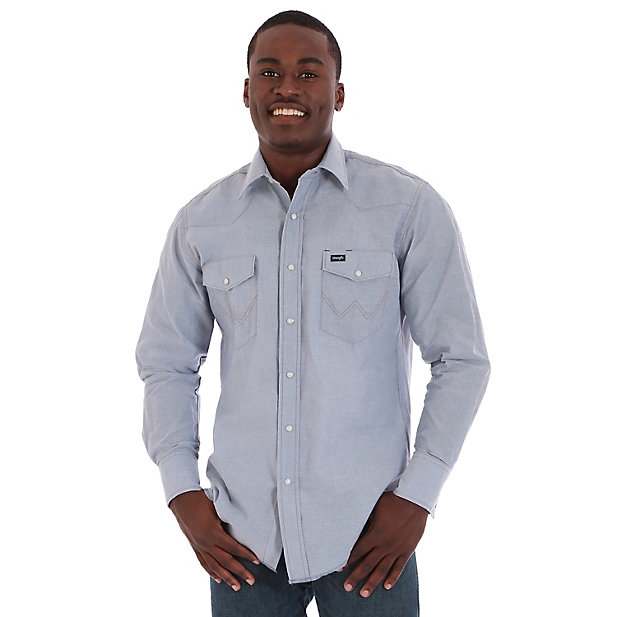 Chambray Western Snap front Shirt  Source: Wrangler