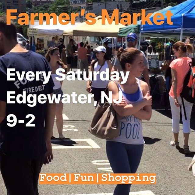 Two more days until tents go up and vendors are ready! See you soon! #farmersmarket #edgewaternj #edgewaterfarmersmarketnj #buylocal #supportsmallbusiness #farmtotable #produce #kidsactivities #entertainment #saturdays #bergencounty