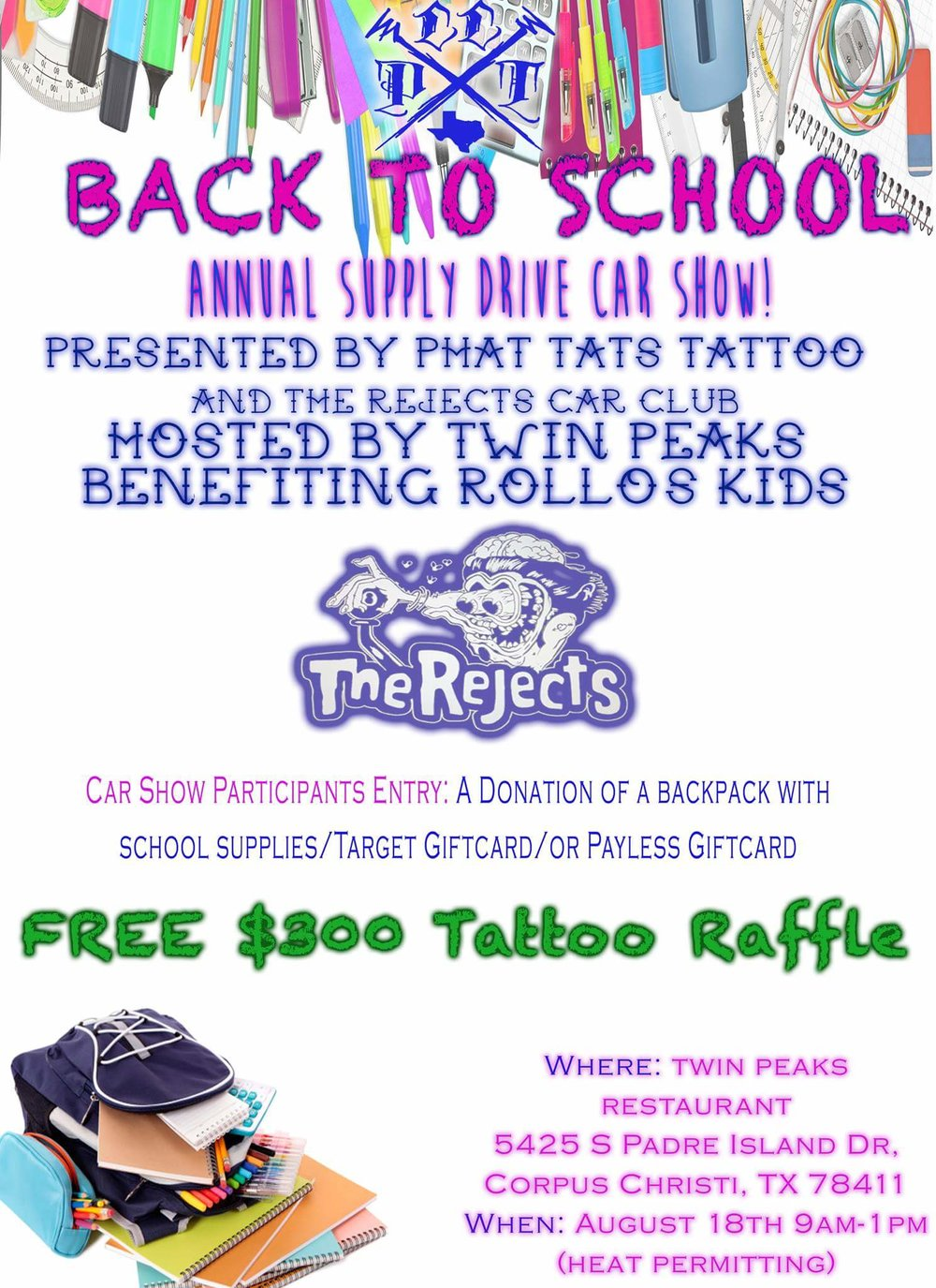 phat tats back to school drive