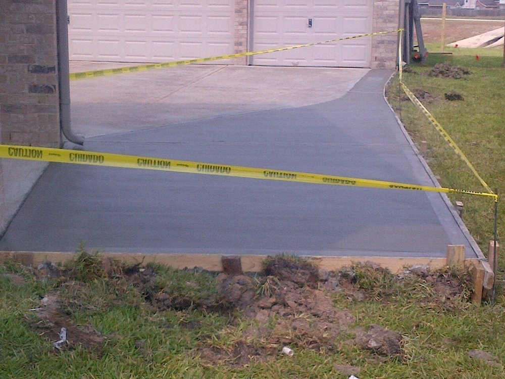 driveway extension: after