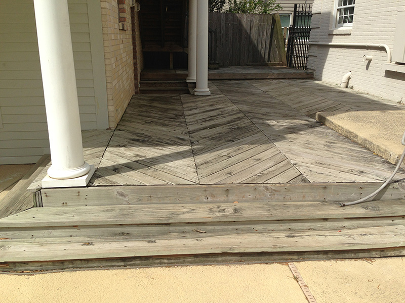 deck restoration: before