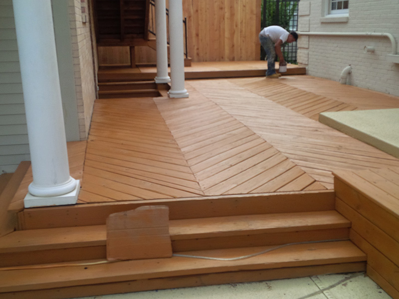 deck restoration: after