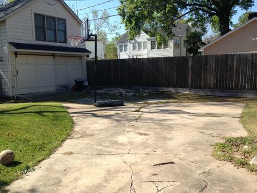 driveway restoration: before