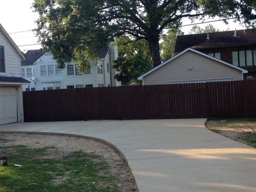 driveway restoration: after