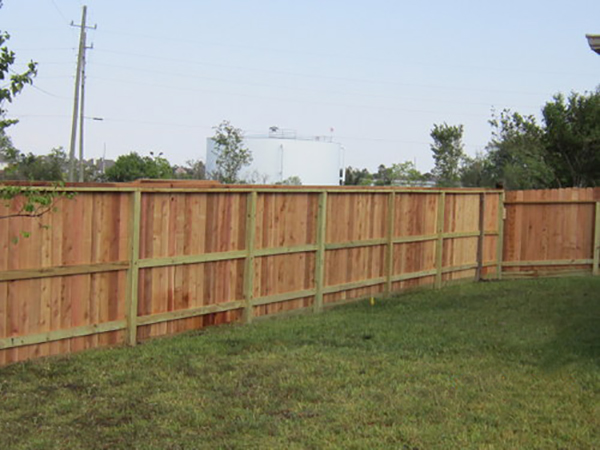 Fence Staining: before