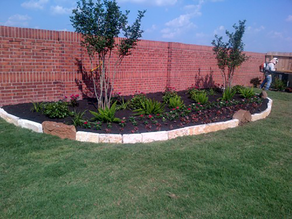 Flower Bed Install: After