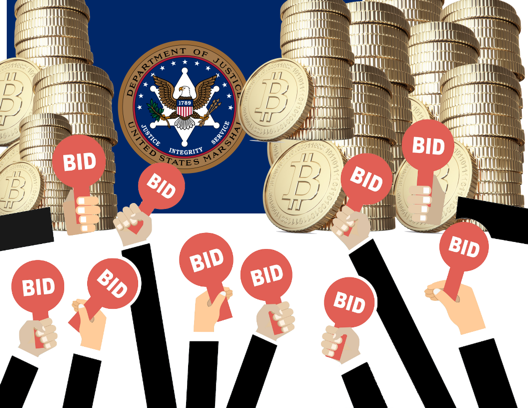 On March 19, the U.S. Marshals will auction off 2,170 confiscated Bitcoin.