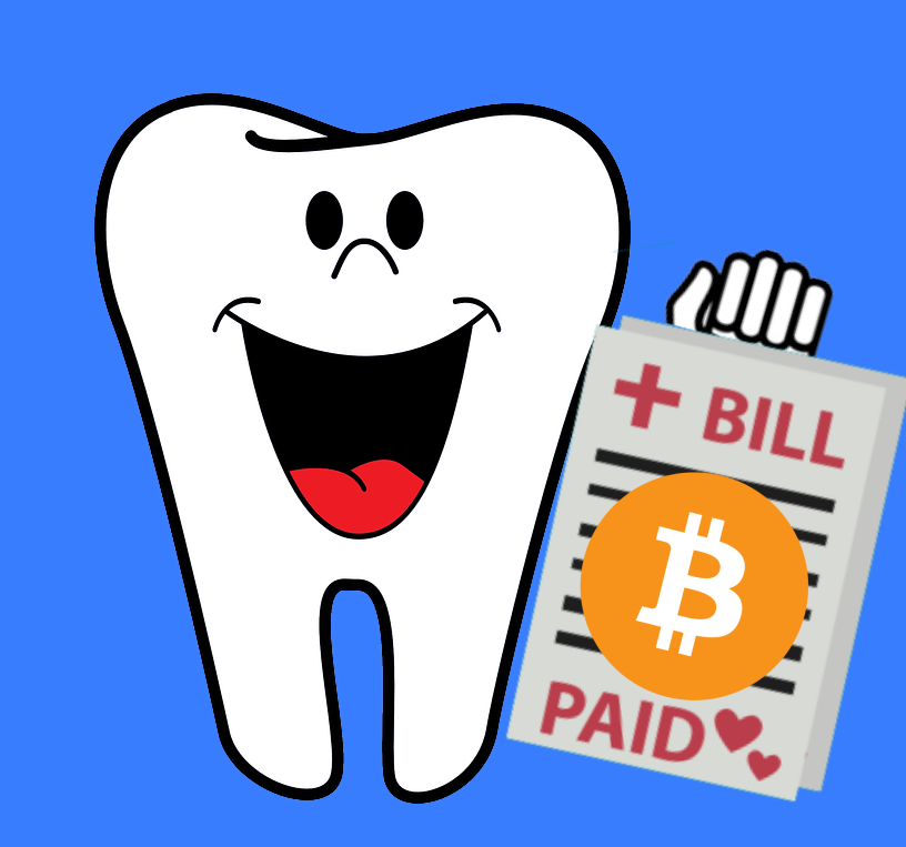 Arizona dentists welcomes cryptocurrency payments. Says it's less expensive to process than using credit card payments.