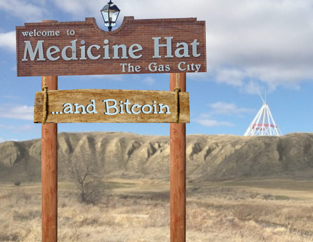 Medicine Hat, Alberta to be the new home of a huge Bitcoin mining facility.