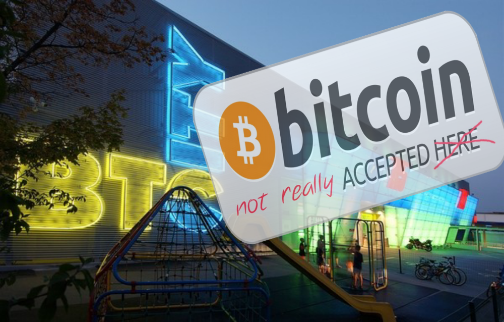 Don't expect to be using actual Bitcoin in the BTC City's blockchain-based shopping experience of the future....get ready to shell out for another ICO