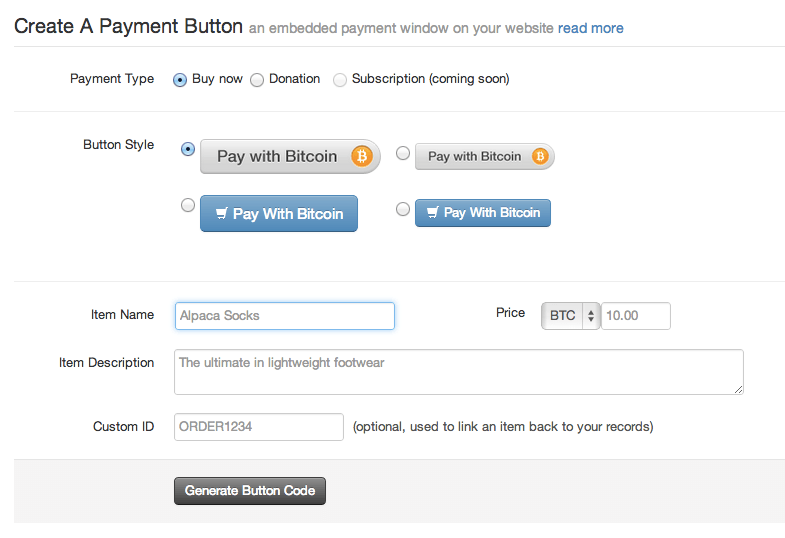 Coinbase has released a simple Pay With Bitcoin widget to allow online businesses to easily accept Bitcoin with minimal setup or expertise required