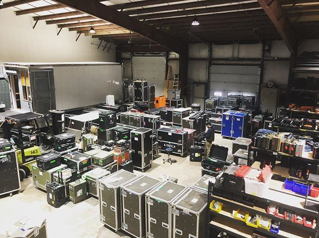 Prep is key. The shop is in full swing today before everything gets loaded on a truck and sent to LA. From pre-production to post-production #TVT has got your back all the way!