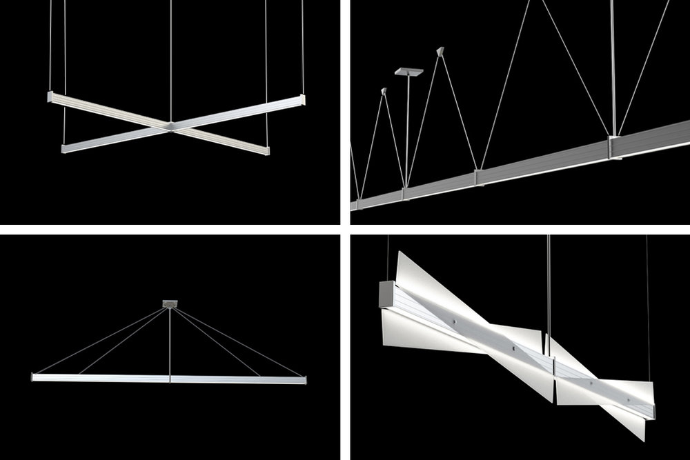 NIKOLA®LINEAR LED - Linear LED collection includes pendants, linear systems, wall and flush mounts for open offices or corporate areas. Vertical and horizontal sconces bring sculptural effects and visual impact to any space.