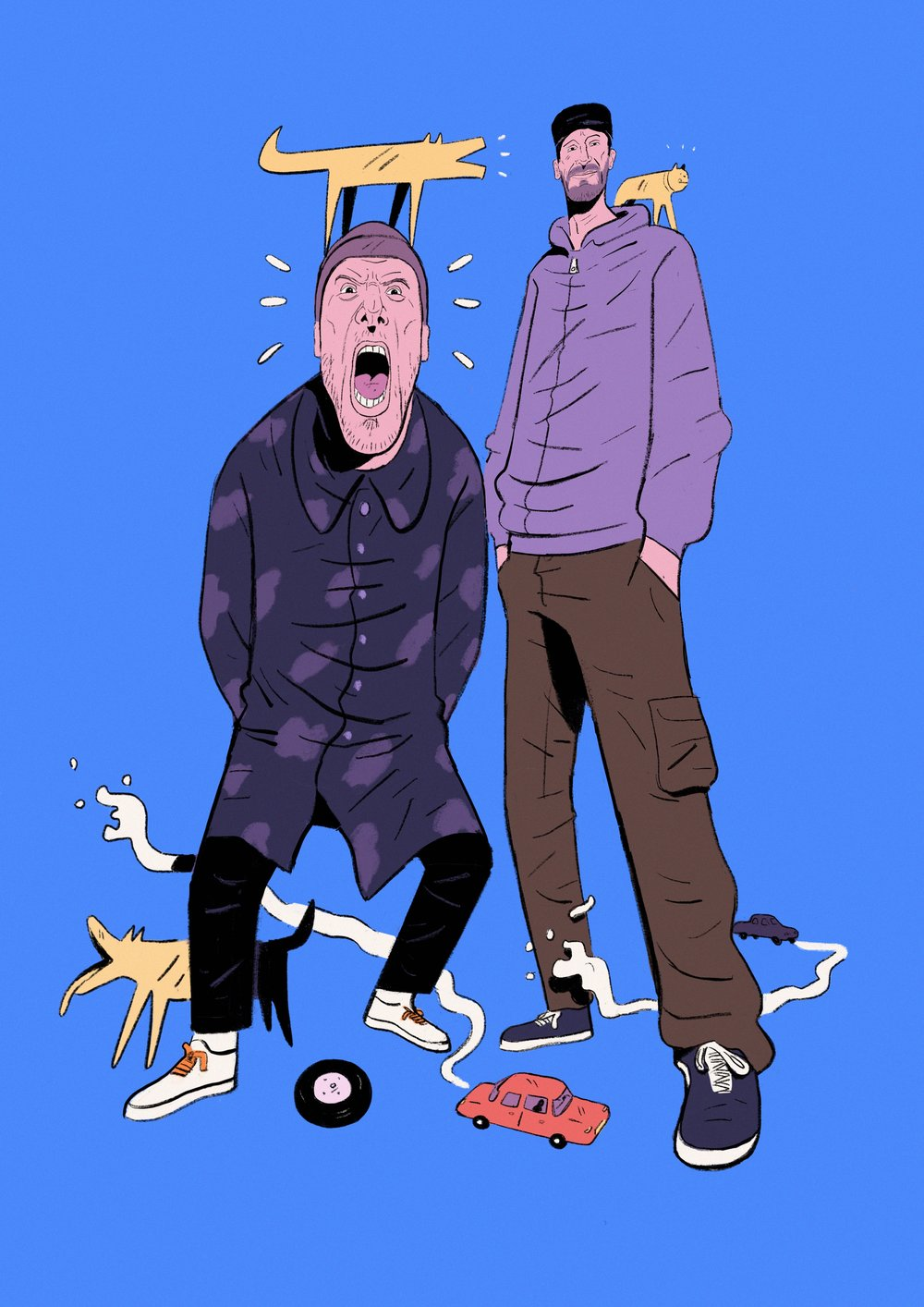 Sleaford Mods for      SO YOUNG magazine