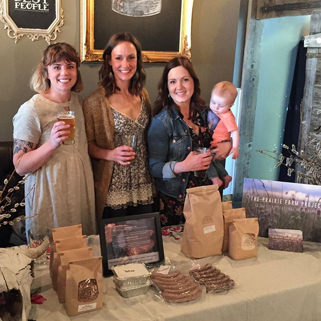 #theprairiefarmproject Boss Babes (and Brett and Fynn) are at @dinechartier in Beaumont tonight from 4-8. Come buy some beef, pork, flour, eggs or just come share a conversation and beer! #beaumont #leducCSA #edmontonCSA #bossbabesyeg #yeg