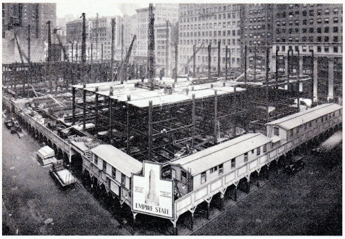 Empire State Building construction site, on Fifth Avenue and 34th Street (Image: NYPL)