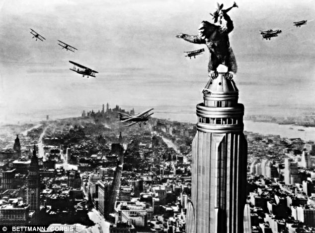 King Kong at the top of the Empire State Building (1933)