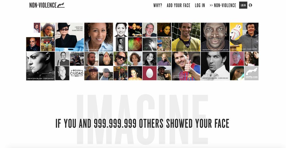 Join celebrities, ordinary people, kids, athletes.  Click here to add your face now .