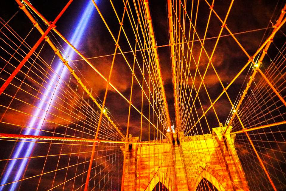 THE BROOKLYN BRIDGE ON SEPTEMBER 11, 2016. PHOTO: LUCAS COMPAN